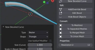Bevel Curve Tools add-on for Blender 2.8