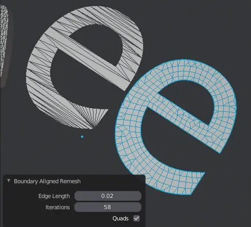 Boundary Aligned Remesh addon