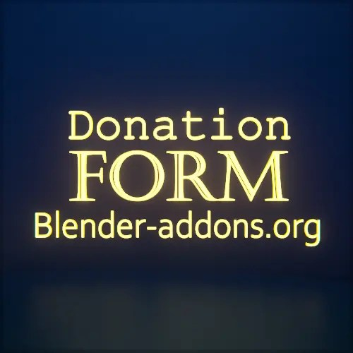 Donation Form Blender-addons.org