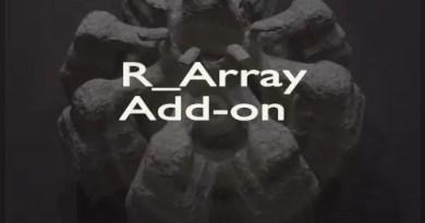 R_Array Addon for Blender 2.8