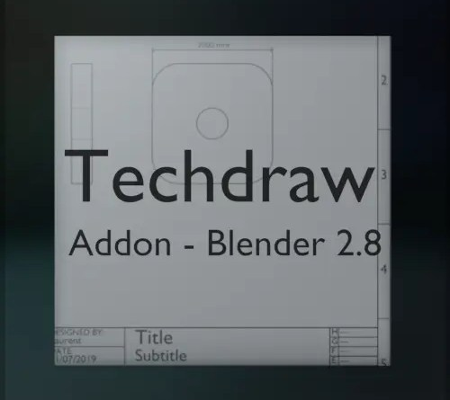 Techdraw - addon for Blender 2.8