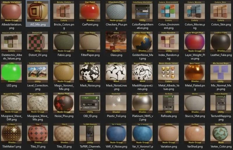 Thumbnails in Material Nodes V2