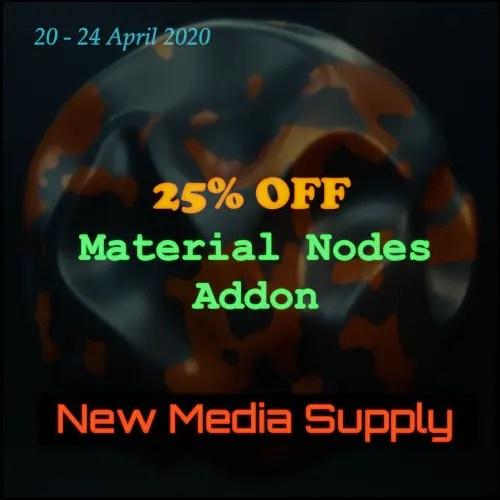 Spring Sale on Blender Market - Material Nodes addon