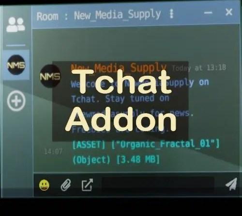 Tchat Addon for Blender - Cover