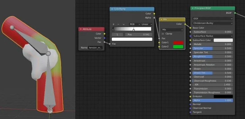 Show a Shader for the Mesh Tension Addon
