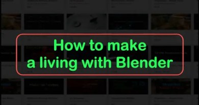 How to make a living with Blender