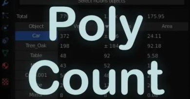 PolyCount Addon for Blender