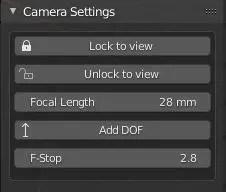 Camera settings lock to view