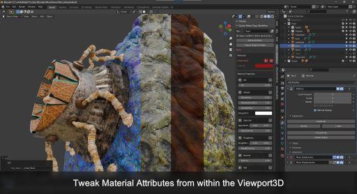 Material Tweaking from the Viewport3D