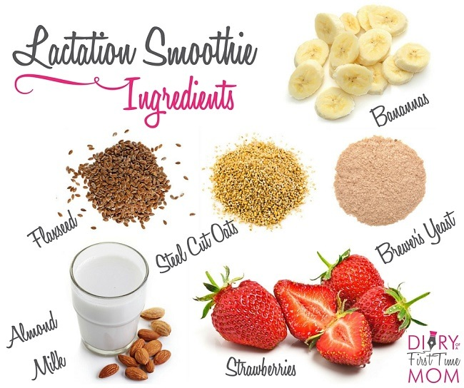 strawberry lactation smoothie with brewers yeast