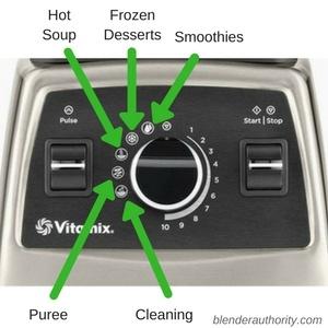 Vitamix 750 Controls