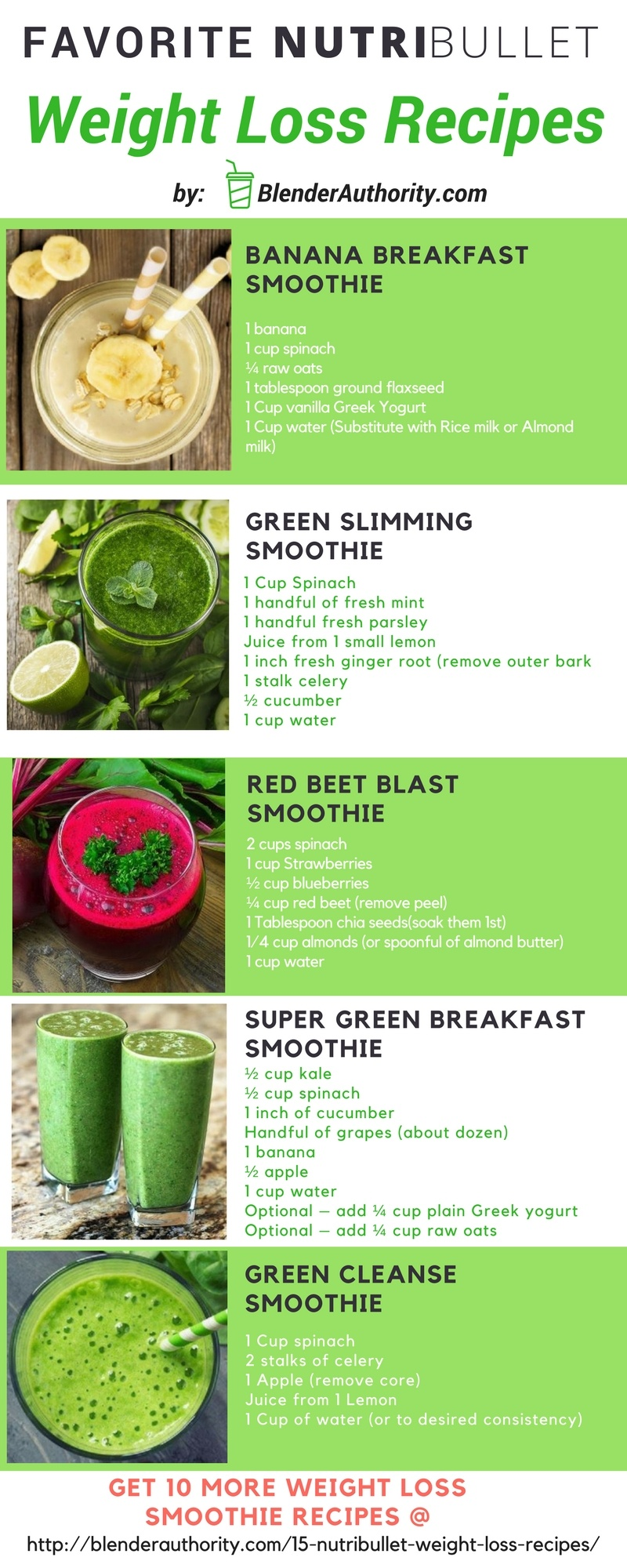 Nutribullet recipes for weight loss