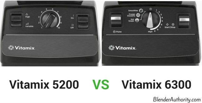 Vitamix 6300 controls