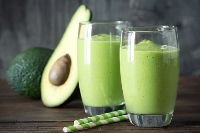Avocado Apple Smoothie for healthy cholesterol