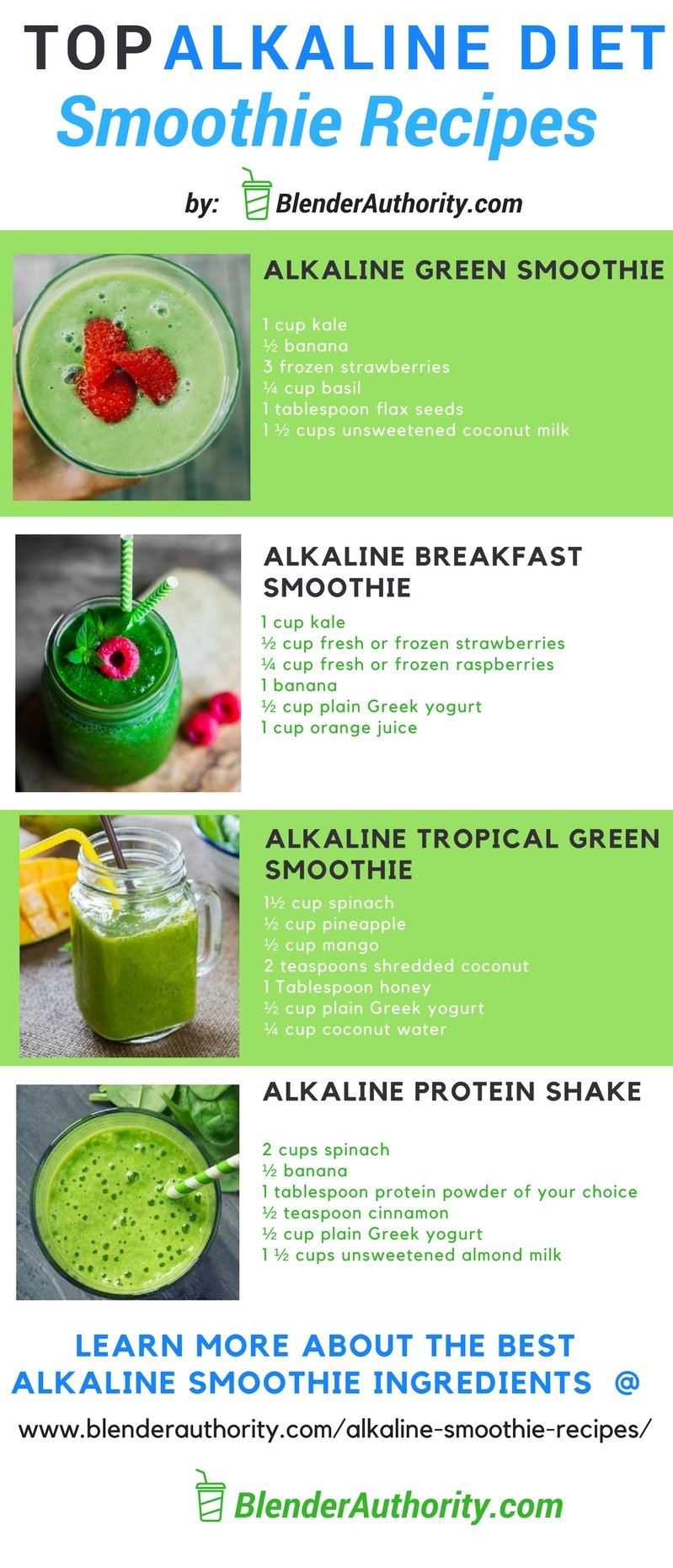 Alkaline Smoothie Recipes and the Overview of the Alkaline Diet