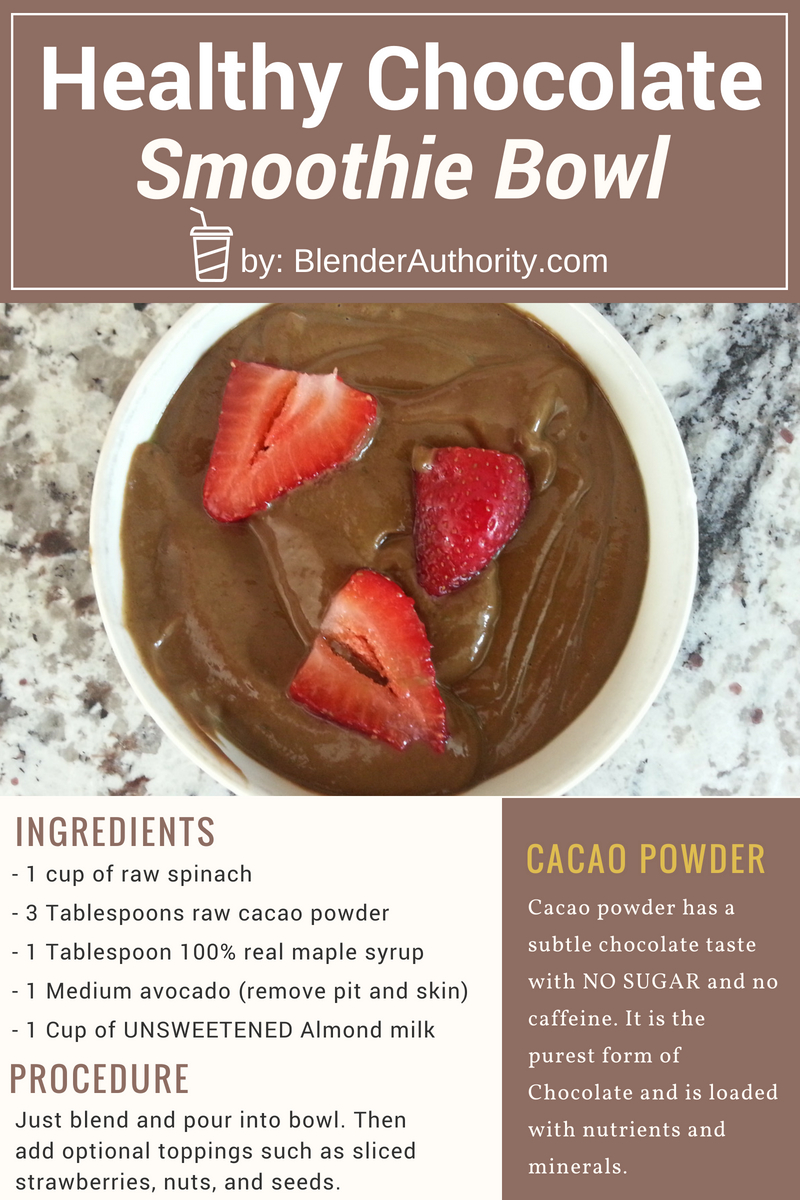 Healthy Chocolate Smoothie Bowl Recipe