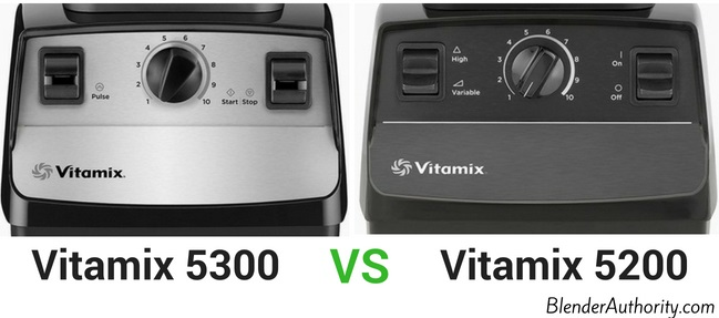 Vitamix 5300 vs Vitamix 5200 controls