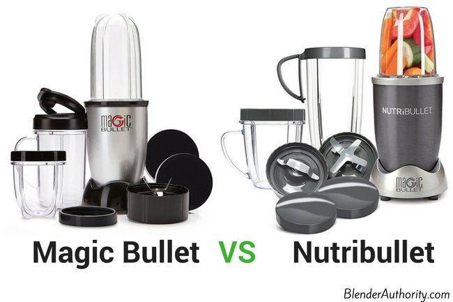 Magic Bullet blender and the Nutribullet 600 blender