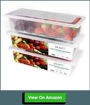 Food Storage Containers, 3 x 1.5L Fridge Organizer Case