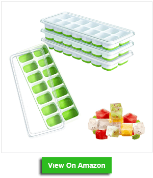 Ouddy 4 Pack Ice Cube Trays with Lid