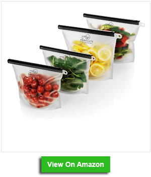 The Absolute Kitchen Reusable Silicone Ziptop Freezer Bags