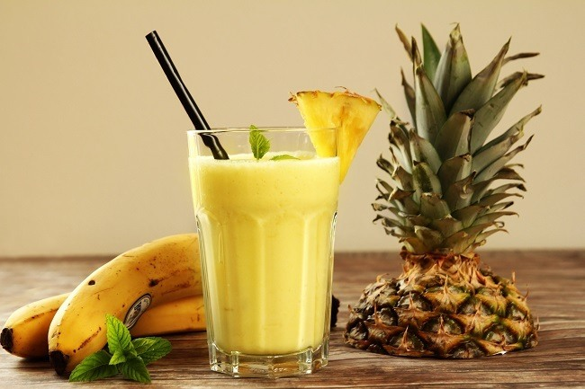 Peach Banana Pinapple Slimming Smoothie Recipe