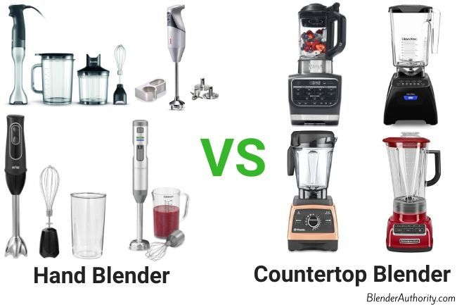 Hand Blender vs Countop Blender Comparison