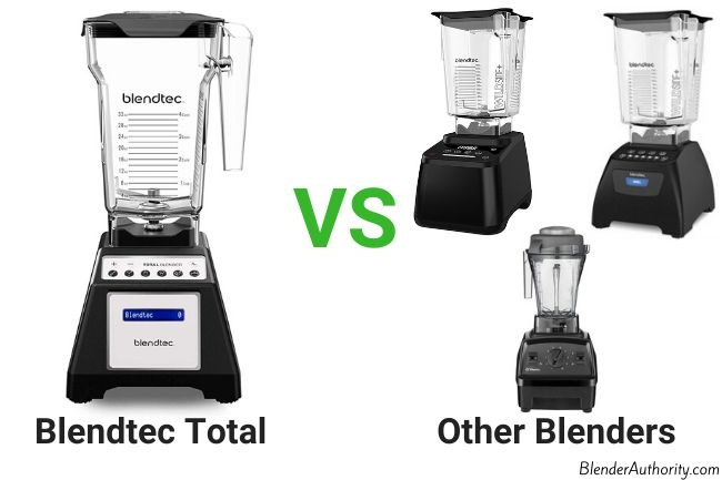 Total blender vs Blendtec Designer and Vitamix