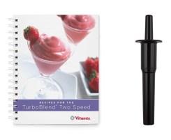blender cookbook and tamper