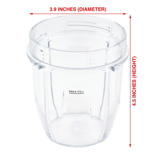 12 oz Cup Replacement Part Compatible with Nutri Ninja Auto-iQ Blenders 426KKU450