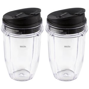 2 Pack 18 oz Cups with Sip & Seal Lids Replacement Part for Nutri Ninja Auto-IQ 1000W 427KKU450 408KKU641