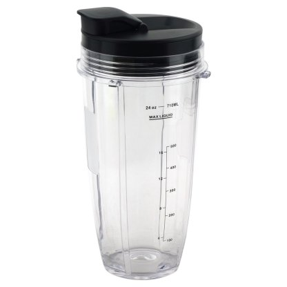 24 oz Cup with Spout Lid Replacement for Nutri Ninja BlendMax DUO with Auto-iQ Boost, Parts 427KKU450 528KKUN100