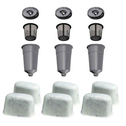 3 K-Cup Coffee Filter Set - 6 Water Filter Cartridges for Keurig