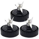 3 Pack Blade Assembly for Nutri Ninja Ultima Blender Models BL810 BL810C BL810Q BL820 BL830 Part # 357KKU800