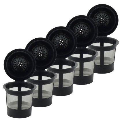 6 Pack Keurig Single K-Cup Solo Reusable Coffee Filter Pods Stainless Mesh for K10 K15 K40 K45 K55 K60 K65 K70 K75 K79