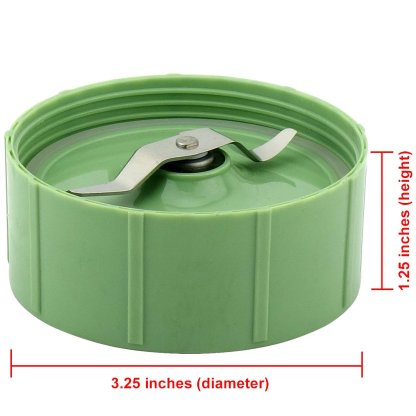 Batch Bowl Flat Blade Combo Replacement Part Includes Lid for Baby Bullet Blenders