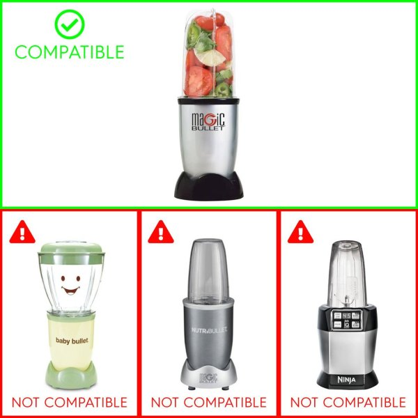 Cross Blade Tall Cup Replacement Part Combo for Magic Bullet MB1001 250W Blenders