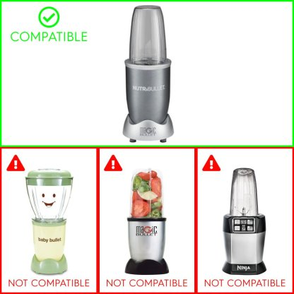 4 Pack Rubber Blade Gear Replacement Parts Compatible with NutriBullet 600W 900W Blenders NB-101B NB-101S NB-201