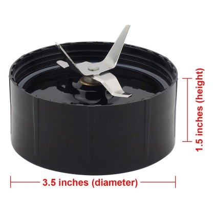 Cross Blade and Flat Blade Replacement Part Combo for Magic Bullet MB1001 250W Blenders