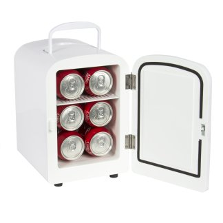 Portable Mini Fridge Cooler and Warmer 4L AC & DC White