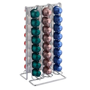 Felji 48 Coffee Capsule Pod Tower Storage For Nespresso