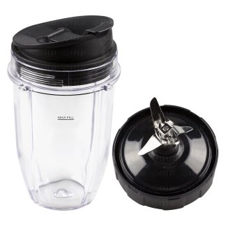 Nutri Ninja 18 oz Cup with Sip & Seal Lid and Extractor Blade Replacement Combo 427KKU450 408KKU641 409KKU641