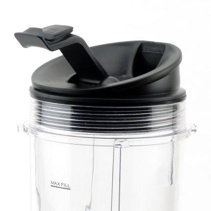 2 Nutri Ninja 24 oz Cups with Sip & Seal Lids and 1 Extractor Blade Replacement Combo 483KKU486 408KKU641 409KKU641