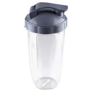 32 oz Colossal Cup with Flip Top To Go Lid Replacement Part Compatible with NutriBullet NB-101B NB-101S NB-201