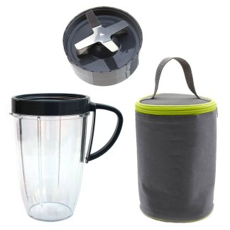 Extractor Blade + 24oz Tall Cup + Blast Off Bag Replacement Compatible with NutriBullet 600W 900W Blenders NB-101B NB-101S NB-201