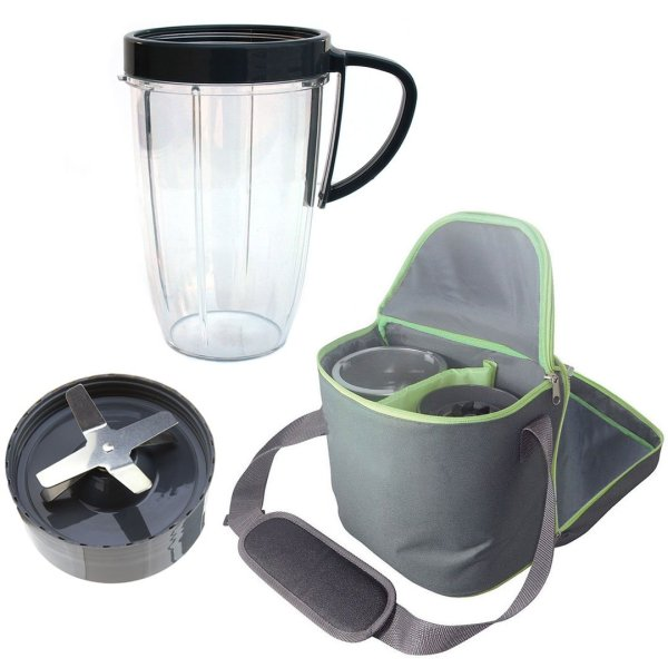 Extractor Blade 600W 900W + 24oz Tall Cup + Insulated Travel Bag Bundle For NutriBullet