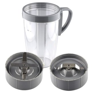 24 oz Tall Cup, Extractor Blade & Flat Milling Blade Replacement Parts Compatible with NutriBullet 600W 900W Blenders NB-101B NB-101S NB-201