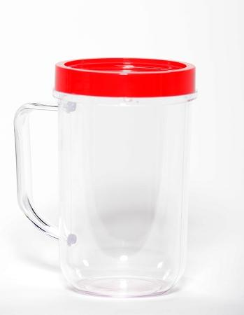 Red Party Cup Mug Replacement Part Compatible with Magic Bullet 250W MB1001