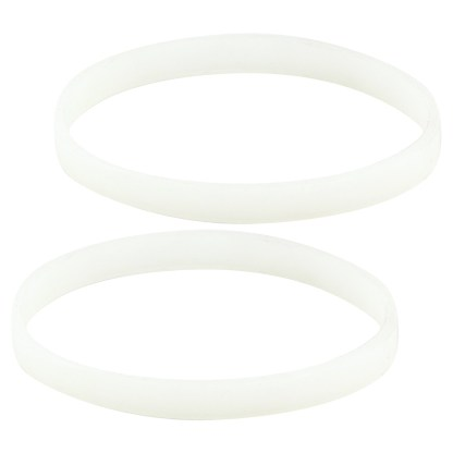 2 Pack White Gasket Rubber Sealing O-Ring Replacement Part for Nutri Ninja Auto-iQ Blenders BL480 BL681A BL682 BL640
