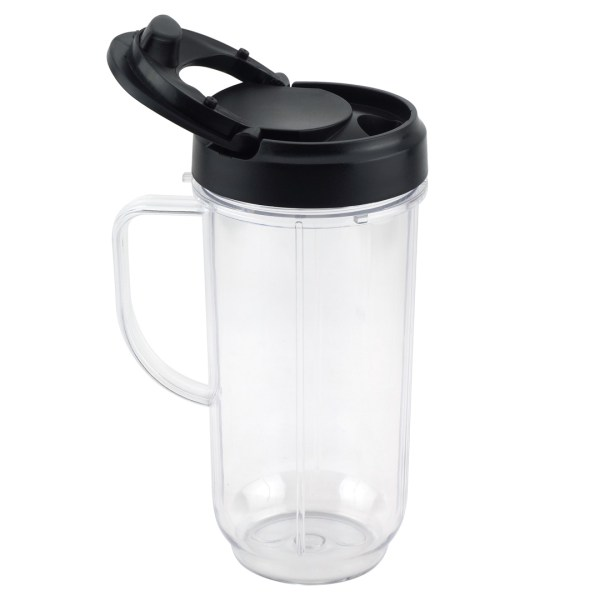 22 oz Tall Cup with Flip Top To-Go Lid Replacement Part for Magic Bullet 250W MB1001 Blenders
